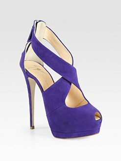 Giuseppe Zanotti - Cutout Suede Platform Sandals