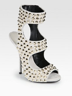 Giuseppe Zanotti - Studded Suede Ankle Strap Sandals