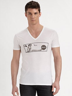 Dolce & Gabbana - Cotton V-Neck Tee