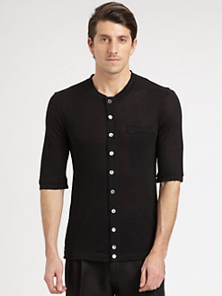 Dolce & Gabbana - Button-Front Jersey Top
