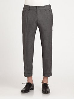 Dolce & Gabbana - Wool & Cotton Tapered Pants