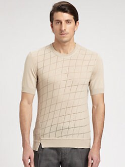 Dolce & Gabbana - Grid-Patterned Cotton Sweater