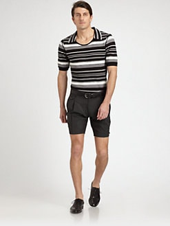 Dolce & Gabbana - Striped Knit Cotton Polo Shirt