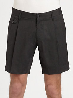 Dolce & Gabbana - Pinstriped Cotton Shorts