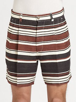 Dolce & Gabbana - Striped Flax Shorts