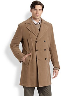 Dolce & Gabbana - Corduroy Peacoat