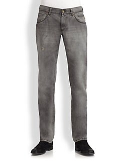 Dolce & Gabbana - Distressed Slim-Fit Jeans