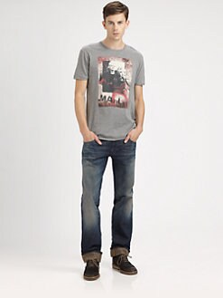 Dolce & Gabbana - Whiskered Slim-Fit Logo Jeans