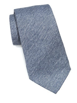 Armani Collezioni - Tight Striped Jersey Tie