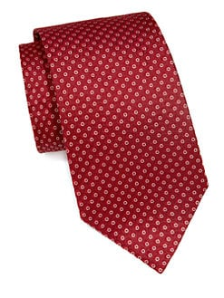 Armani Collezioni - Dot-Print Silk Tie