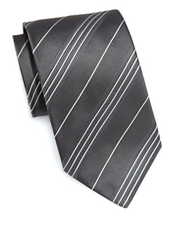 Armani Collezioni - Diagonal Striped Silk Tie
