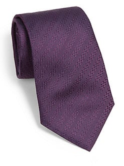 Armani Collezioni - Tonal Stripe Silk Tie
