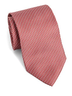 Armani Collezioni - Triangle-Print Silk Tie