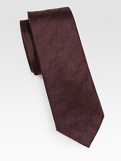 Armani Collezioni - Diagonal Silk Tie