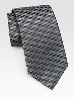 Armani Collezioni - Diagonal Abstract Silk Tie