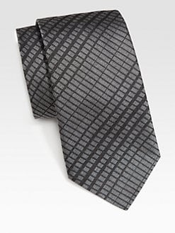 Armani Collezioni - Rectangle Design Silk Tie