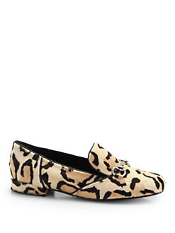 Gucci - Lillian Leopard-Print Calf Hair Loafers