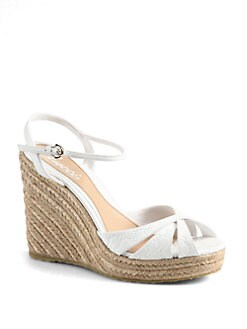 Gucci - Penelope GG Leather Espadrille Wedges