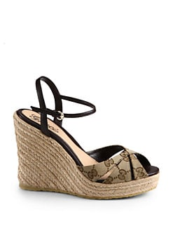 d3458071b89 Gucci Penelope GG Canvas Espadrille Wedges from Saks Fifth Avenue ...