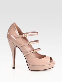 Gucci - Lisbeth Patent Leather Mary Jane Pumps