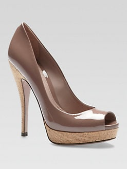 Gucci - Lisbeth Patent Leather Platform Pumps