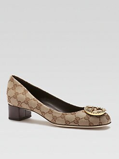 Gucci - Canvas Interlocking Logo Pumps