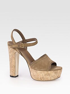 Gucci - Danielle Suede Clog Sandals