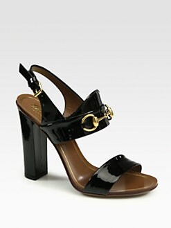 Gucci - Alyssa Patent Leather Sandals