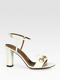 Gucci - Patent Leather Horsebit Sandals