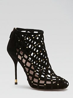 Gucci - Isabel Suede Cutout Ankle Boots