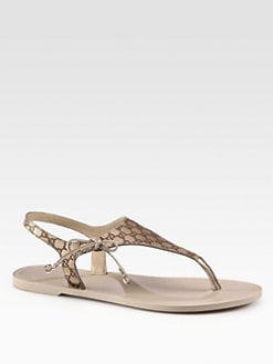 Gucci - Katina Leather Thong Sandals