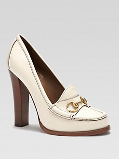 Gucci - Alyssa Leather Loafer Pumps