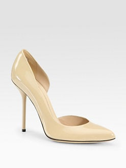 Gucci - Noah Patent Leather d'Orsay Pumps