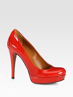 Gucci - Betty Patent Leather Platform Pumps
