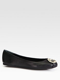 Gucci - GG Leather Ballet Flats
