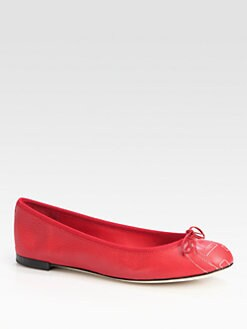 Gucci - Soho Logo Leather Ballet Flats