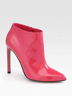 Gucci - Gloria Patent Leather Ankle Boots