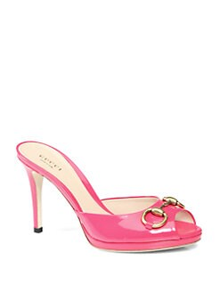 Gucci - New Hollywood Patent Leather Horsebit Sandals