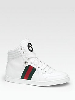 Gucci - Coda Leather Lace-Up Sneakers