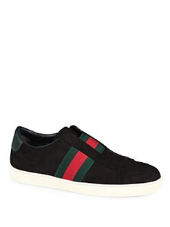 Gucci - Laceless Suede & Leather Sneakers