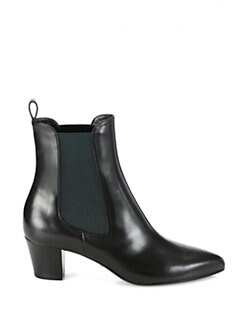 Gucci - Leather Elastic Ankle Boots