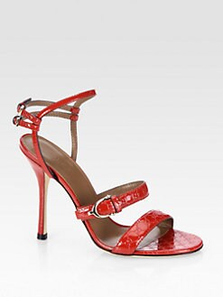 Gucci - GG Patent Leather Sandals