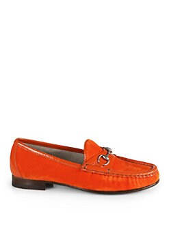 Gucci - Horsebit Velvet & Patent Leather Loafers