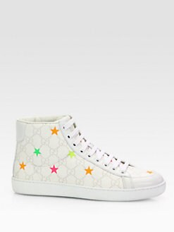 Gucci - Brooklyn GG Stars Canvas High-Top Sneakers