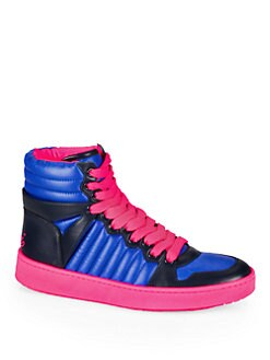 Gucci - Hudson Padded Nylon & Leather High-Top Sneakers