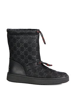 Gucci - Guccisima Leather-Trimmed Snow Boots