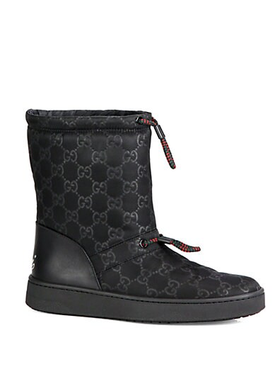 Guccisima Leather-Trimmed Snow Boots