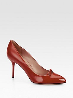 Gucci - Beverly Patent Leather Pumps