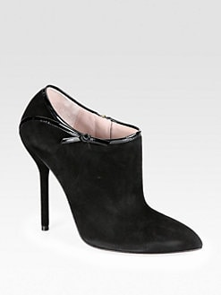 Gucci - Suede & Patent Leather Ankle Boots