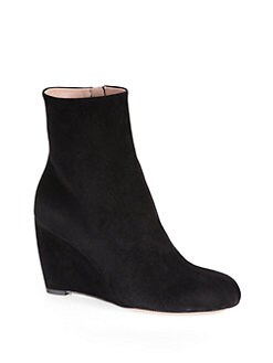 Gucci - Suede Wedge Ankle Boots